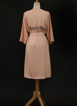 ROBE FOR MAID OF HONOUR BLUSH PLAIN
