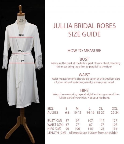 Robe For Maide of Honor Blush Plain