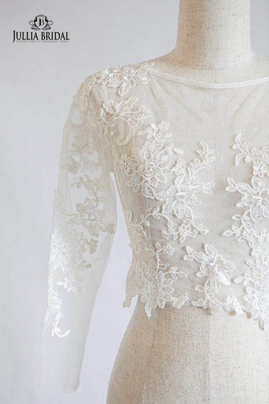 Floral Lace Long Sleeves Boleros