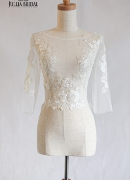 Floral lace boleros Quarter sleeves