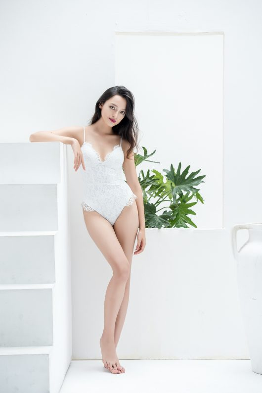 BRIDAL LACE BODYSUIT - WHITE