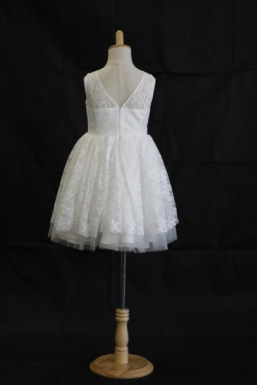 Lily princess knee-length Flower Girl Dress - lace and tulle