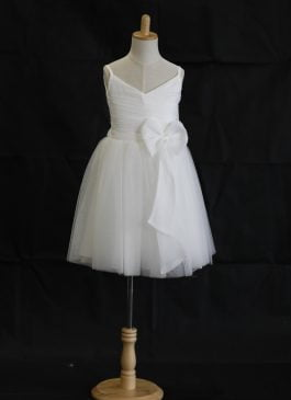 Sarah Half-length Flower Girl Dress - Organza